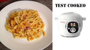 recette de cuisine cookeo cookéo moulinex je teste pour vous les pâtes façon carbonara