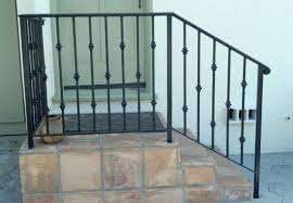 ornamental iron handrails traditional exterior los angeles