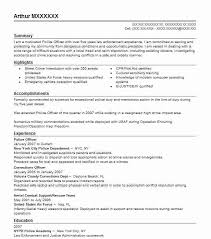 Certification Letter Of Accomplishment Best Police Officer Resume Example Livecareer
