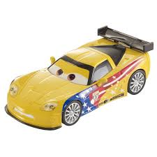 cars characters yellow disney cars toys jeff corvette 7 die cast at toystop
