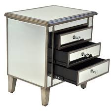 Mirrored Bedside Tables Mirrored Pedestal 3 Drawer Mirrored Bedside Tables Mirrored