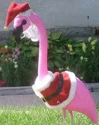 pink flamingo yard ornament w 9 clothing
