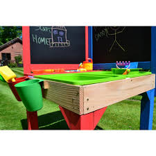 buy multifunctional playing table with sandpit and chalkboard