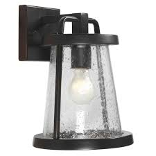 Home Depot Decorating Store by Home Decorators Collection Gale 1 Light Black Outdoor Wall Lantern