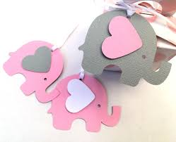 pink u0026 gray elephant baby shower gift tags for gifts first