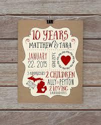 10 year anniversary gift husband happy 10th ten wedding endearing 10 year wedding anniversary