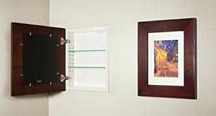 picture frame medicine cabinet amazon com 14x18 espresso concealed cabinet large a recessed