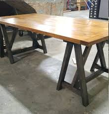 Industrial Standing Desk by Desk Sawhorse Standing Desk Diy Sawhorse Standing Desk Sawhorse