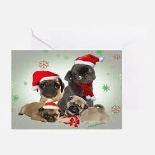pug greeting cards cafepress