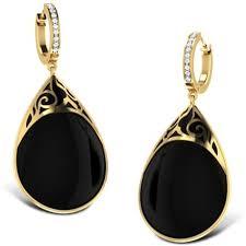 black earings midnight black onyx earrings jewellery india online caratlane