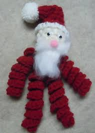 santa ornament free crochet pattern