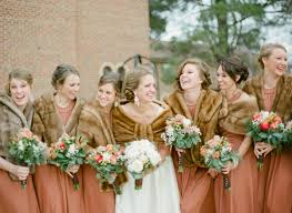fur shawls for bridesmaids coral brown vintage wedding bridesmaid dresses wedding