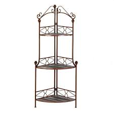 Cheap Bakers Rack Amazon Com Verdugo Gift Rustic Corner Baker U0027s Rack Corner