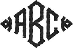 three letter monogram embroidered monograms embroidery