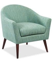 Aqua Accent Chair Collin Fabric Accent Chair Ship Furniture Macy S