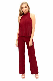wine jumpsuit melia wine wide leg jumpsuit miss g couture