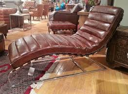 Vintage Chaise Lounge Governor Vintage Cigar Leather Chaise Lounge Chair High End Direct