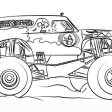 coloring pages monster trucks grave digger archives mente