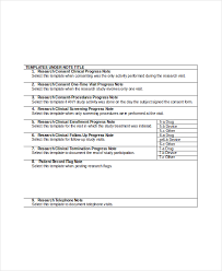 progress note template 9 free word pdf documents download