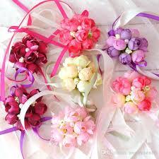 wrist corsage prices 2018 wholsesle wrist corsage bridesmaid flowers