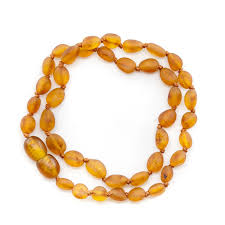 amber beads necklace images Maximum strength unpolished cognac bean beads amber teething jpg