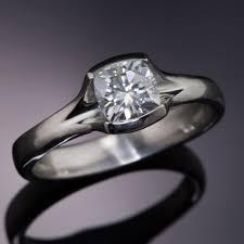 palladium engagement rings light gray cushion cut moissanite fold semi bezel palladium engagement