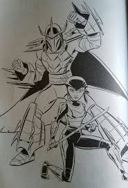 tmnt karai and shredder coloring page by ninjaturtlefangirl on
