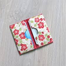 fun quick and easy little project a card holder fabric cards
