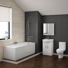 L Shaped Shower Bath Suites Shape Vanity Bathroom Suite With Waterfall Taps Bathroom Suites