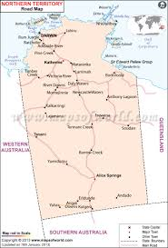 territories of australia map territory road map