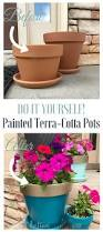 diy painted terra cotta pots the latina next door