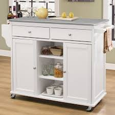 kitchen island with stainless top alcott hill brecht kitchen cart with stainless steel top reviews