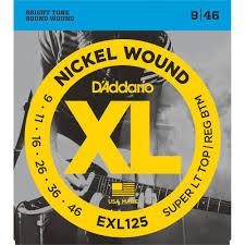 d addario exl125 nickel wound 09 46 electric guitar strings