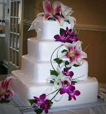 island themed wedding pictures 4 of 20 orchids hawaiian wedding cakes purple photo