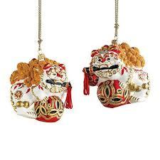 gumps collectible foo ornament set pretty darned