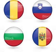 Moldova Flag Flag Icon Of Romania Slovenia Bulgaria And Moldova Stock Vector