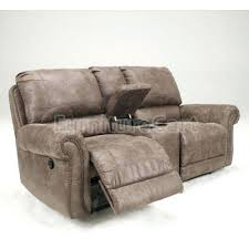 power loveseat recliner with console leather reclining sectional