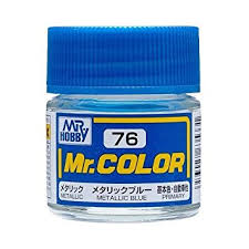 amazon com gundam mr color 76 metallic blue metallic