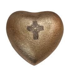 keepsake urns celtic cross mini heart keepsake urn for human ashes cross