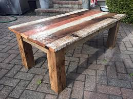 Make Your Own Reclaimed Wood Desk by Diy Reclaimed Barn Wood Coffee Table Diy And Crafts