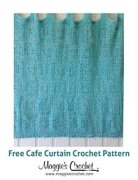 Cafe Curtain Pattern 107 Best Crochet Curtains Images On Pinterest Crochet Curtains