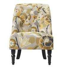 Home Decorators Accent Chairs Chair Tufted Slipper Yellow Excellent Home Decorators Collection