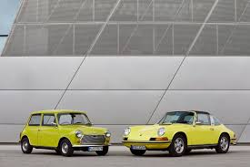 mini cooper porsche classic mini says happy 50th birthday to porsche 911 autoevolution