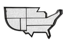 Black And White Map Of The United States by Amazon Com 42 U201d Spirit Of Americana United States Map Mesh Iron