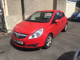 vauxhall corsa 1 2 petrol manual 3 door hatchback red 2008