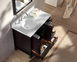Bathroom Vanities At Menards by Single Sink Vanity Set W Left Offset Sink In Espresso At Menards