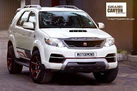 modified toyota toyota fortuner grand canyon edition by motormind autobics