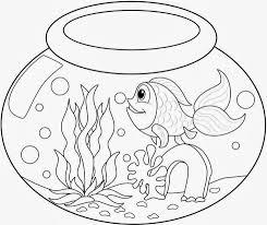 colour drawing free wallpaper fish bowl coloring drawing free