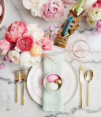Pink And Gold Table Setting by My Pastel Easter Brunch Easter Brunch And Easter Table
