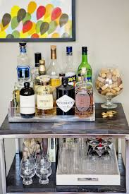 Home Bar by Erin U0027s Casually Sophisticated Modern Loft Bar Carts Cork And Trays